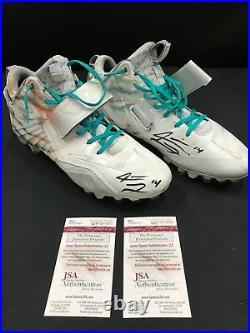 #14 Jarvis Landry Miami Dolphins Game Used Signed Custom Cleats Jsa Coa