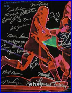 1972 Miami Dolphins Autographed 16x20 Photo 20 Signatures Little JSA 23796
