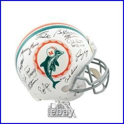 1972 Miami Dolphins Autographed Proline Full-Size Football Helmet 26 Sigs JSA