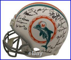 1972 Miami Dolphins Autographed Proline Helmet 26 Sigs Scott Csonka JSA 23789