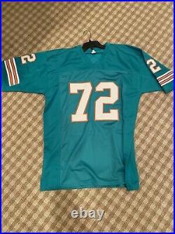 1972 Miami Dolphins Autographed/Signed Jersey COA Perfect Season 21 Autos HOF