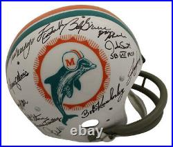 1972 Miami Dolphins Autographed/Signed TK Helmet 25 Sigs Scott Csonka JSA 23792