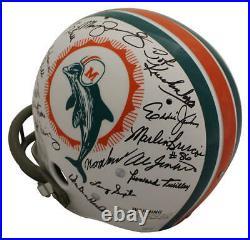 1972 Miami Dolphins Autographed/Signed TK Helmet 26 Sigs Scott Csonka JSA 23791