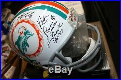 1972 Miami Dolphins Hall Of Famers Signed F/s Helmet Don Shula Csonka Jsa Loa