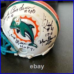 1972 Miami Dolphins Super Bowl Champs Team Signed Mini Helmet JSA Perfect Season
