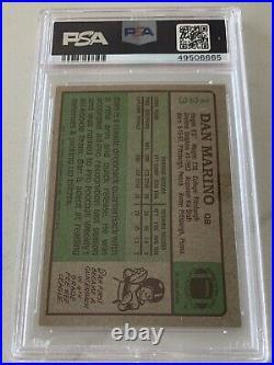 1984 Topps #123 Dan Marino Signed Rookie Card RC HOF 05 PSA NM 7 AUTO 10