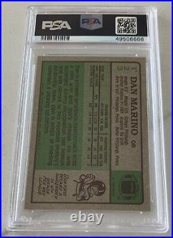 1984 Topps #123 Dan Marino Signed Rookie Card RC HOF 05 PSA NM-MT 8 AUTO 9