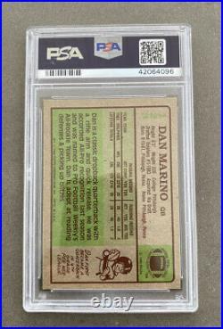 1984 Topps Dan Marino #123 PSA 8 (NM-MT) Autographed Rookie Card