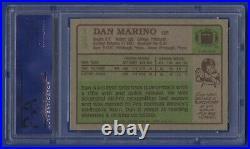 1984 Topps Dan Marino 13 Rc Rookie Card #123 Signed Auto Autograph Psa Mint 9