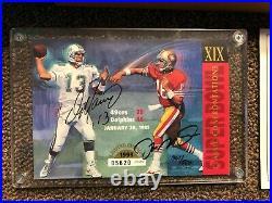 1993 Upper Deck Dan Marino Joe Montana Autograph SB Super Bowl XIX Autographed