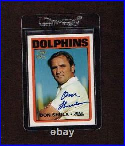 1997 Topps Don Shula Auto Signed Card HOF Certified Miami Dolphins Autograph