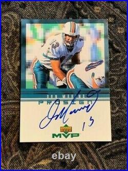 1999 Ud Upper Deck Hawaii Mvp Promo Dan Marino Autographed Miami Dolphins