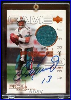 2000 Upper Deck Pro's and Prospects Jersey Autographed Dan Marino Card