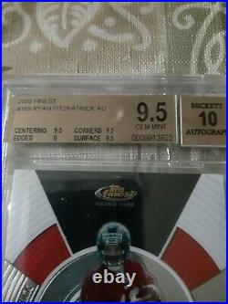 2005 Topps Finest Auto Ryan Fitzpatrick Rookie Miami Dolphins BGS 9.5/10 RC