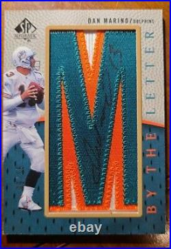 2007 Upper Deck SP By The Letter Dan Marino Autographed M Patch Card. 9/15. NM-M