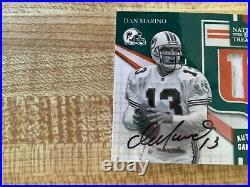 2009 National Treasures Dan Marino Autographed Jersey Football card 8/10