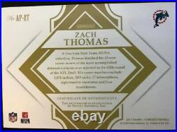 2017 ZACH THOMAS FLAWLESS ALL-PRO INK GOLD #'d /25 AUTO LOOKS MINT SEE PICS