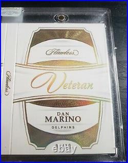 2018 Panini Flawless Dan Marino 1/1 Auto Patch Nameplate Logo 1/10 Miami