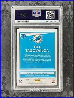 2020 Donruss Optic TUA TAGOVAILOA RC Rated Rookie Holo Prizm Auto 99/99 PSA 10