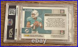2020 Elements TUA TAGOVAILOA RC Rookie Neon Signs Jersey Auto #/25 Dolphins PSA9