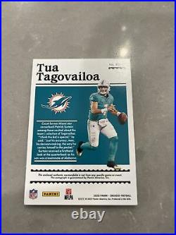2020 Encased Tua Tagovailoa Emerald Jersey Number 1/5 Dual Patch Auto Dolphins