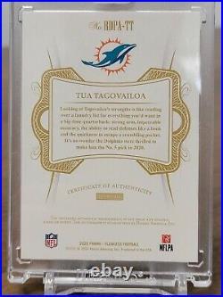 2020 Flawless Football Tua Tagovailoa 4 color Patch Dual RPA 23/25 Dolphins