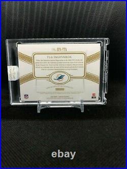 2020 Flawless Tua Tagovailoa 4 Color True Silver Rpa /20 On Card Auto Encased