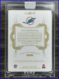 2020 NFL Football Tua Tagovailoa Auto 4 color! RPA 8/20 Miami Dolphins ebay 1/1