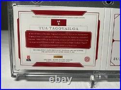 2020 National Treasures Tua Tagovailoa Jersey Auto RPA RC Booklet 04/10 Alabama