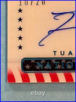 2020 National Treasures Tua Tagovailoa RC Rookie Patch AUTO 10/20 True RPA S&S