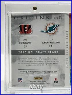 2020 Origins Joe Burrow Tua Tagovailoa Dual Patch On Card Auto Booklet Gold /10