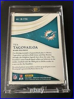 2020 Panini Immaculate Premium FOTL Tua Tagovailoa RPA 02/14 Auto RC Dolphins