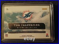 2020 Panini Origins Tua Tagovailoa 3-Color Blue Patch Auto 49/49 DOLPHINS RPA RC