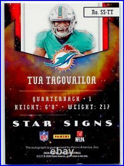 2020 Panini Phoenix Tua Tagovailoa Star Signs Rookie Auto Miami Dolphins
