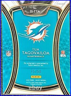 2020 Panini Select Tua Tagovailoa Auto /50 Rookie Autograph SSP Dolphins SS-TTA