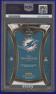 2020 Panini Select Tua Tagovailoa Prizm Blue RC Rookie Auto Autograph /50