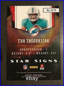 2020 Phoenix FB Tua Tagovailoa Rookie Star Signs Autograph Miami Dolphins