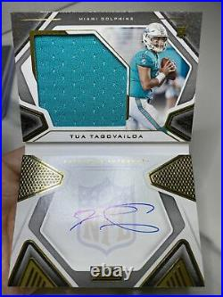 2020 Playbook TUA TAGOVAILOA Rookie Patch Auto Booklet #70/99 Dolphins