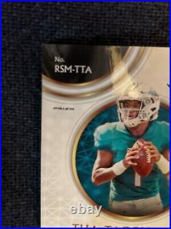 2020 Select Tua Tagovailoa GOLD RPA 8/10 Rookie Patch Auto SP RC Dolphins
