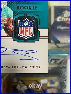 2020 Tua Tagovailoa National Treasures 1/1 Shield RPA On Card Auto Patch Gear