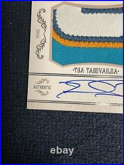 2020 Tua Tagovailoa National Treasures X-Over RPA 12/99 Quad Color Patch! RC