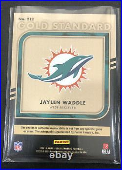 2021 Gold Standard NFL Jaylen Waddle Premium Rookie Patch Auto RPA /22