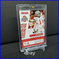 2021 Panini Contenders Draft Picks Game Day Ticket Auto#4 Justin Fields 1/10