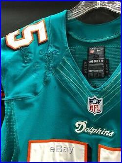 #55 Koa Misi Miami Dolphins Signed Game Used Aqua Nike Jersey Very Used! Jsa Coa