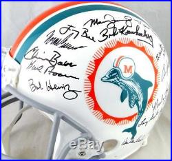 72 Miami Dolphins Autographed F/S Proline Helmet with 27 Signatures -JSA-W Auth
