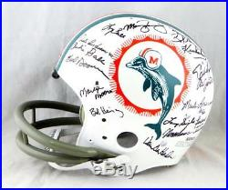 72 Miami Dolphins Autographed F/S TK Helmet with 27 Signatures -JSA-W Auth Black