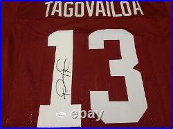 Alabama Crimson Tide Tua Tagovailoa Signed Custom Jersey BAS COA