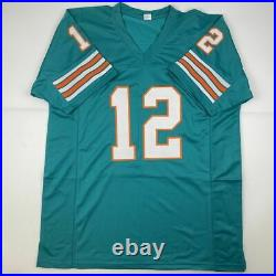 Autographed/Signed BOB GRIESE Miami Teal Football Jersey JSA COA Auto