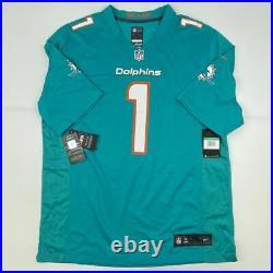 Autographed/Signed TUA TAGOVAILOA Miami Dolphins Teal Nike Jersey Fanatics COA