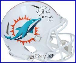 Autographed Tua Tagovailoa Dolphins Helmet Fanatics Authentic COA Item#10648227